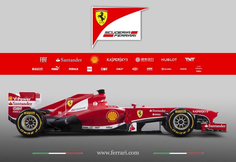 Scuderia Ferrari F138 in Maranello 2013